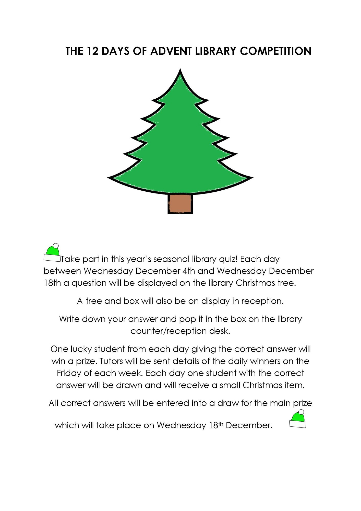 THE 12 DAYS OF LIBRARY ADVENT