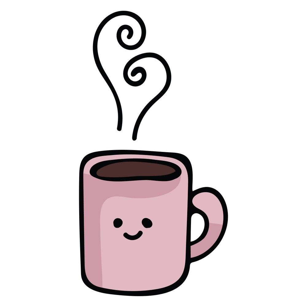 Kawaii coffee mug cartoon vector 23675241