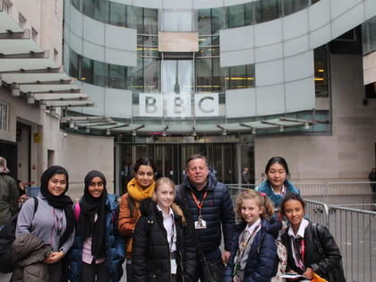 EGA Young Reporters Visit BBC Broadcasting House