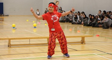 Red Nose Day Benchball  Staff V Students